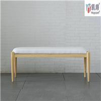 供应北欧卧室组合家具全实木白蜡木床尾凳