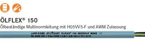 供应LAPPGROUP OLFLEX 150柔性电缆