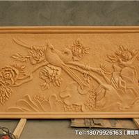 四川花开富贵砂岩浮雕 客厅入户过道装饰画