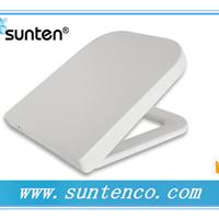 高档白色马桶盖板 方形抗菌马桶盖 SU005