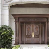 豪华仿古铜门,精湛铜门工艺值得信赖
