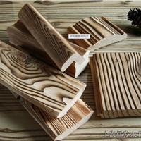 供应花旗表面碳化刻纹木碳化木格栅