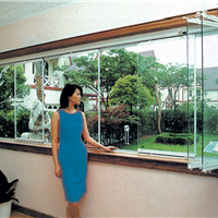 深圳美e家无框阳台折叠玻璃窗安装中心