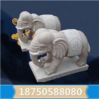 石雕大象门口摆放 雕刻工艺精美 青石仿古