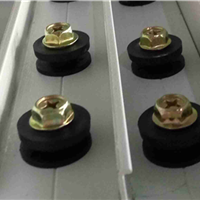 供应隐形防盗网防护网专用加厚铝型材轨道