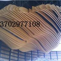 供应木纹氟碳外墙弧形铝装饰面