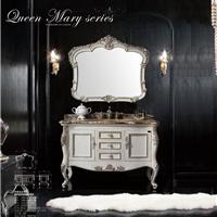 维娜斯卫浴柜三孔单盆加厚边白蜡木浴室柜