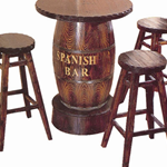 供应天津酒吧用酒桶桌椅首选宝佳户外家具