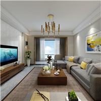 天古两江春城洋房现代风格装修样板设计展示