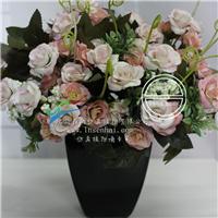 供应森海玫瑰仿真花套装欧式假花玫瑰花家居
