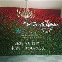 森海仿真绢花墙发布会派对聚会墙面装饰玫瑰墙