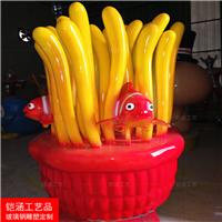 海底总动员雕塑|玻璃钢小丑鱼摆件|珊瑚摆件