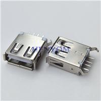 USB 2.0 AF母座180度DIP立式直插15.0mm