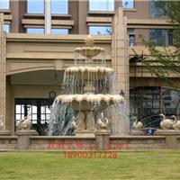 石材喷水池 石雕水钵 景观喷泉