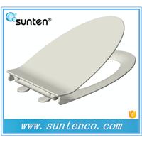 直销脲醛白色加长超薄V形坐便器马桶盖板