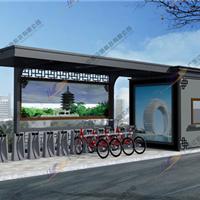 钢结构公共自行车棚,镀锌板自行车棚制作
