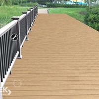 武汉自然木塑木地板WPC环保更新木PVC长城板