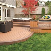 常德生态木塑木地板WPC环保再生木PVC长城板