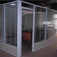 供应85型铝镁合金双层玻璃夹百叶隔断厂家