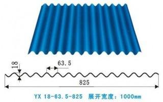 浙江杭州YX18-63.5-825彩钢板厂家价格