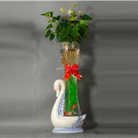 供应水培玻璃花瓶充氧花瓶厂家电子花瓶批发