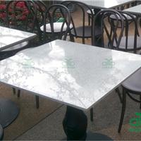 石英石户外桌椅定制工程 餐厅家具首选厂家