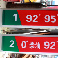 供应加油站油品灯箱
