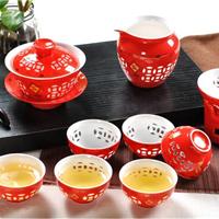 会议礼品景德镇红瓷茶具套装