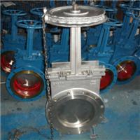 链轮高温刀型闸阀、链条闸板阀、高温插板阀
