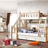 供应儿童高低床实木儿童上下床床子母