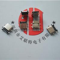 USB3.1TYPE-C母座【沉板四脚插板带定位柱】