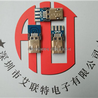 MICRO USB双面插公头(正反插带板-镀镍)