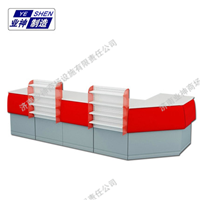 济南业神红色吸塑便利店收银台YS-022小货架