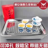 供应不锈钢方盘冲孔 烧烤烤鱼方盆盘子