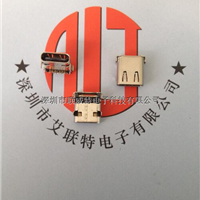 USB3.1type-C母座【90度4脚插板带定位柱】