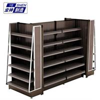 济南业神高档钢木货架精品超市货架直销