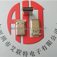 USB3.1公头type-C【90度针脚全贴板端公头】