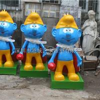 供应价格实惠卡通蓝精灵玻璃钢雕塑工艺品