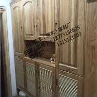 长沙实木家具厂实木衣柜、床定制三合一结构