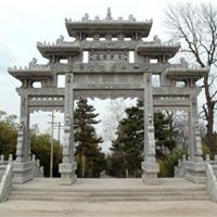 供应街道牌坊石雕,石雕牌门楼,寺庙石牌楼