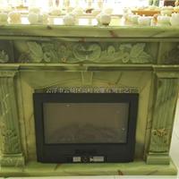 进口天然玉石欧式雕刻壁炉架