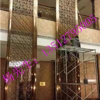 供应酒店装饰雕花幕墙铝板雕刻镂空屏风定做