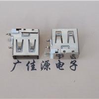 供应usb测插短体母座14.0mm弯插直边白胶芯