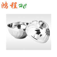 供应 不锈钢双层隔热百合碗/玉兰碗