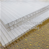 8mm毫米厚透明双层中空PC阳光板厂家