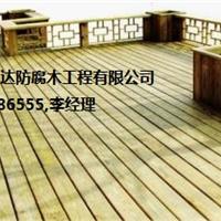 青岛防腐木木栈道廊架
