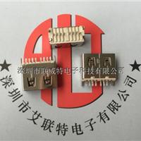 USB2.0AF双面插母座(180度针直插长10.6)