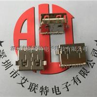 AF2.0USB短体10.6双面插母座【90度针全贴】