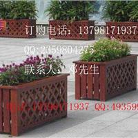 户外工程绿化花槽-马路防腐花箱-实木花盆