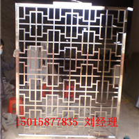 杭州全满焊式304不锈钢玫瑰金屏风生产厂家